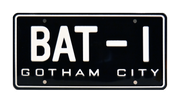 BAT-1 prop plate movie memorabilia from Batman with The Dark Knight