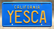 Replica metal stamped California license plate garage decor from Up in Smoke with Lou Adler