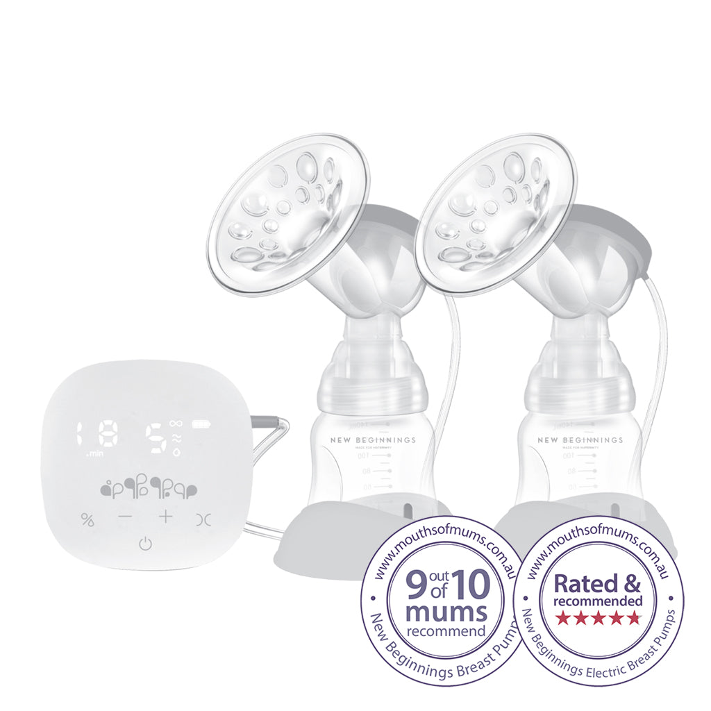 Double Electric Breast Pump - Micro-computer technology, twice as fast and USB rechargeable
