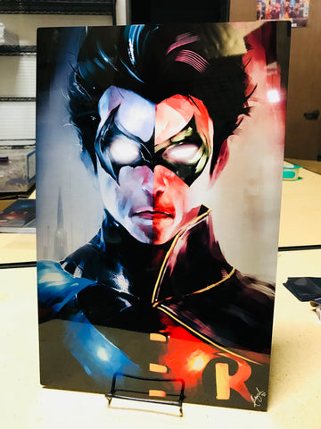 Robin/Nightwing Split [Metal Print]