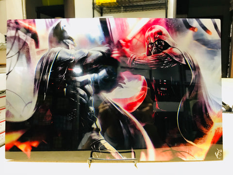 Bat vs. Sith [Metal Print]