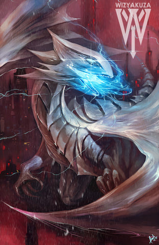 Powerful Dragon with Eyes of Blue