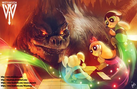 Power Puff Girls vs. Godzilla