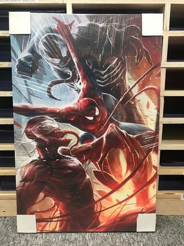 Spider vs. Symbiotes [Canvas]