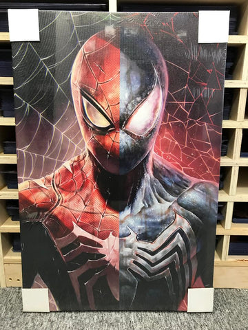 Spider / Symbiote Split [Canvas]