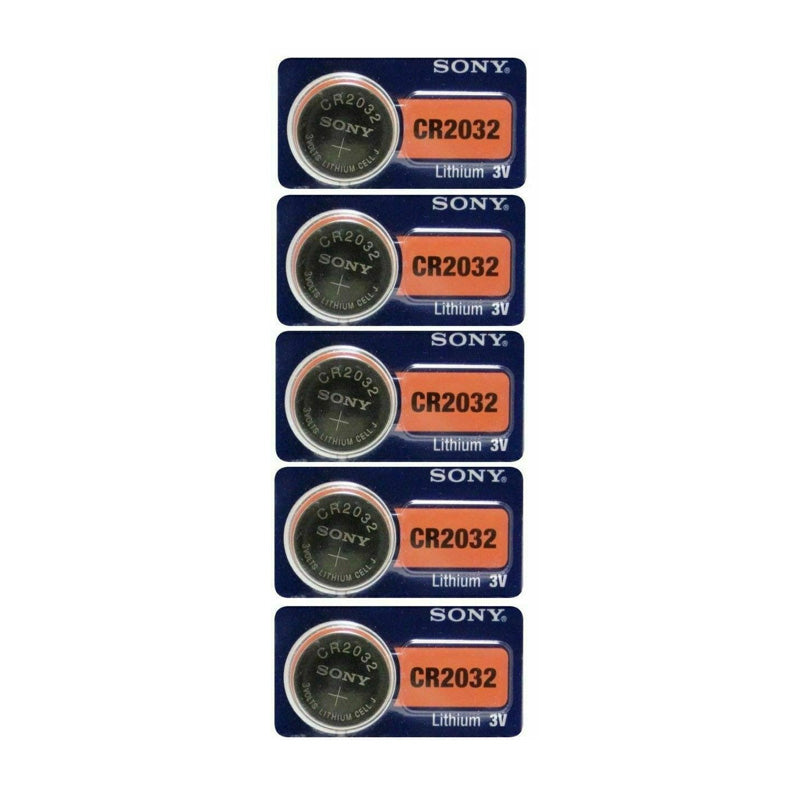 Sony CR2032 220mAh 3V Lithium Primary (LiMNO2) 5 Pack of Batteries