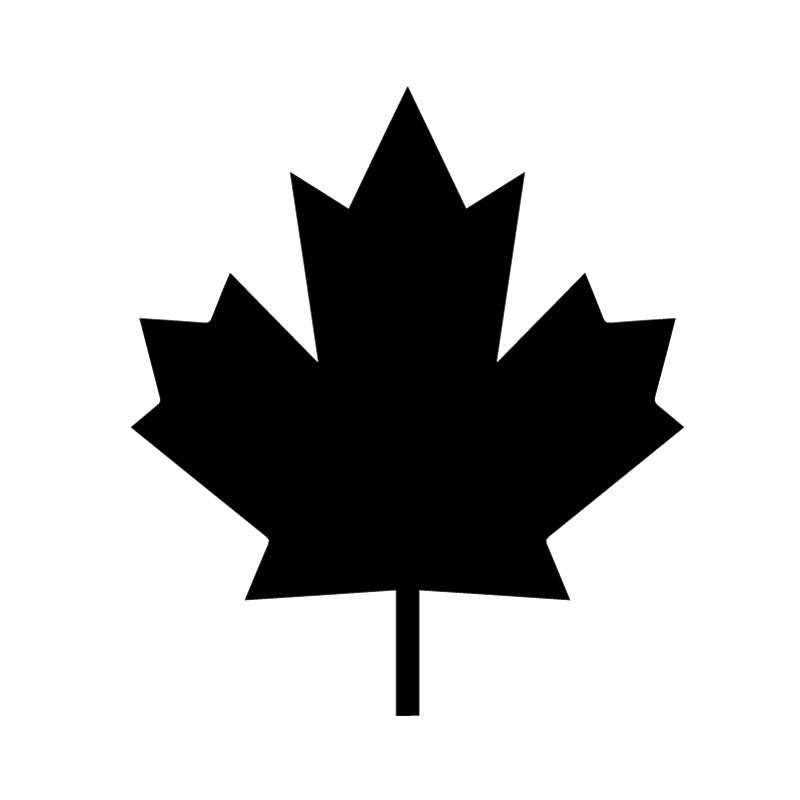 Vinyl decal maple leaf medium