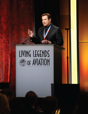 John Travolta and Harrison Ford to honor newest inductees  in Living Legends of Aviation  15th annual awards ceremony dedicated to the memory of astronaut Gene Cernan