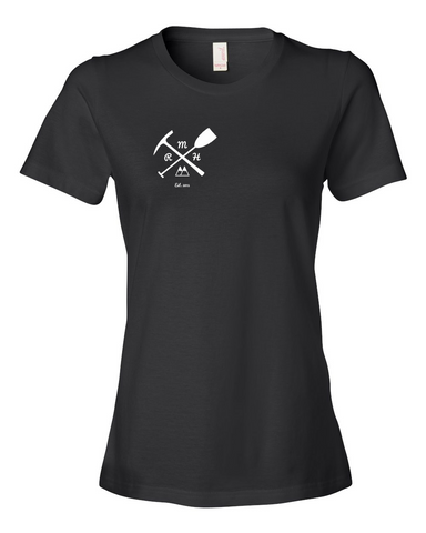 Women's Short Sleeve Tee- Pickaxe & Paddle - Rocky Mountain High Est. 2015  - 1