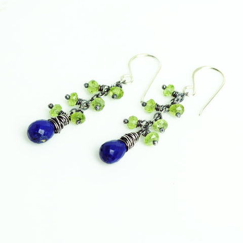 Blue and green earrings | 12th woman jewelry