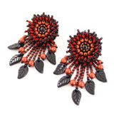 rust orange brown earrings