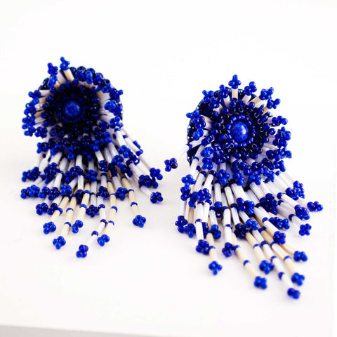 Beaded confetti earrings
