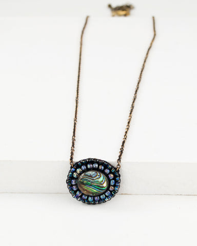 Abalone necklace | unique delicate necklace
