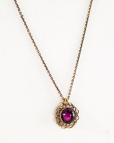 Wine red color necklace