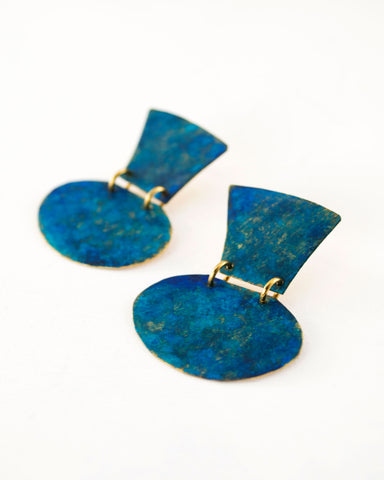 Turquoise minimalist earrings by Exquistry, Handmade in Seattle