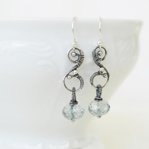 Light blue gemstone earrings
