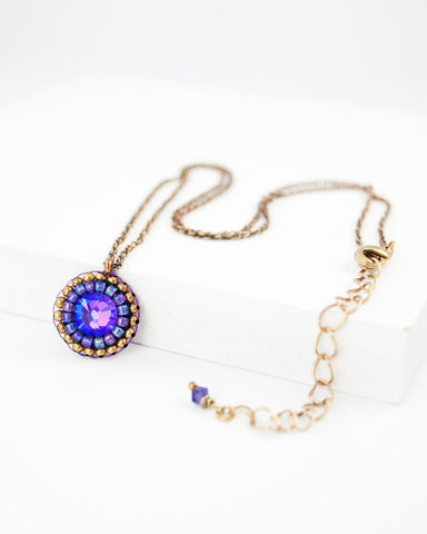 Purple swarovski delicate necklace