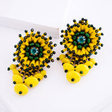 yellow green earrings