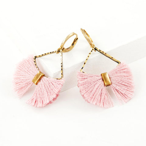 Light pink earrings, handmade by exquistry
