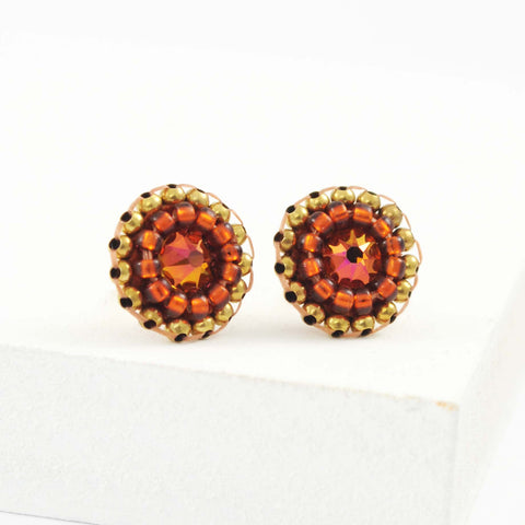 Burnt orange earrings