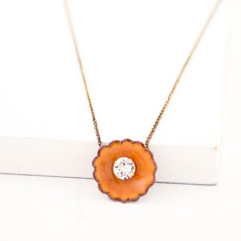 Mango yellow flower necklace