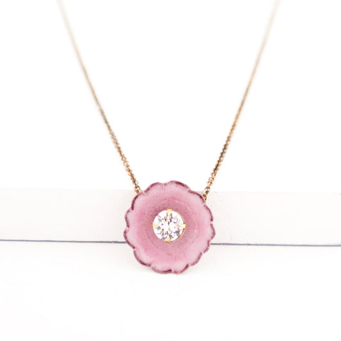 Light pink pendant necklace