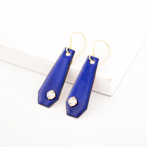 Geometric hexagon drop earrings