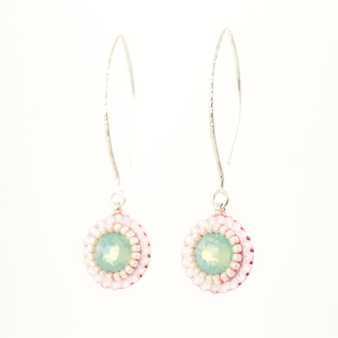 Baby pink drop earrings