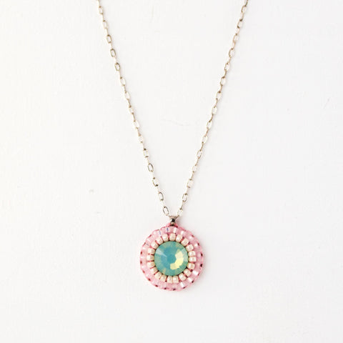 baby pink necklace