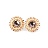 Blush pink ivory stud earrings - Exquistry - 1