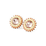 Blush pink ivory stud earrings - Exquistry - 2