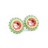Pink mint stud earrings - Exquistry - 2