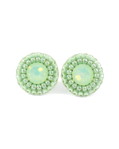 Mint stud earrings - Exquistry - 1