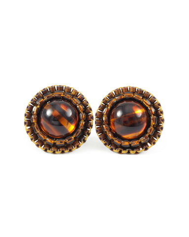 Tortoise stud earrings - Exquistry - 1