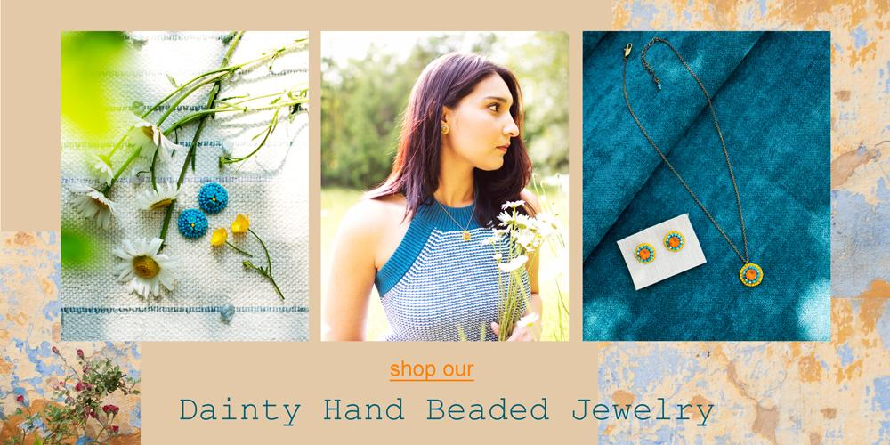 Dainty hand beaded jewelry | Handmade in Seattle