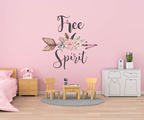 Boho Wall Decals Free Spirit Wall Decals Wild One Wall Decal