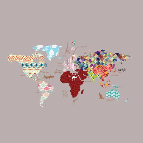 Cultural World Map Decal- Pattern Map Wall Decal - Clear Vinyl Decal on imb world map, cn world map, uk world map, nj world map, dd world map, arizona world map, ne world map, ph world map, usvi world map, ca world map, un world map, aa world map, ap world map, kh world map, ae world map, dc world map, old world map, sc world map,