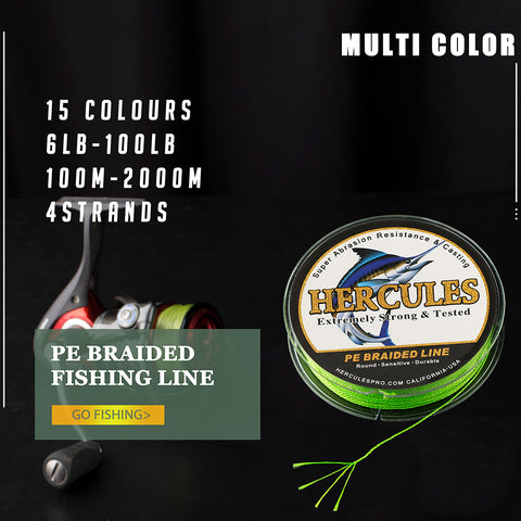 Hercules 4 Strands Braided Fishing Line