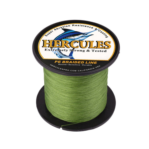 100M 109Yds Army Green 10lb-300lb Hercules PE braid Fishing Line 8 Strands