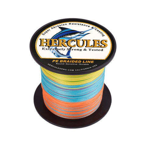 100M 109Yds Multicolor 10lb-300lb Hercules PE Braided Fishing Line 8 Strands