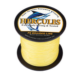 100M 109Yds Yellow 6lb-100lb Hercules PE Braided Fishing Line 4 Strands