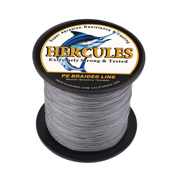 100M 109Yds Gray 10lb-300lb Hercules PE Braided Fishing Line 8 Strands