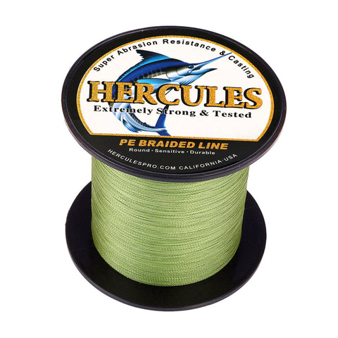 100M 109Yds Army Green 6lb-100lb Hercules PE Braided Fishing Line 4 Strands