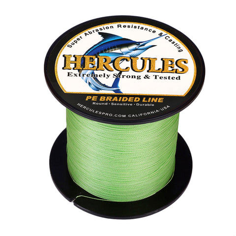 100M 109Yds Fluorescent Green 6lb-100lb Hercules PE Braid Fishing Line 4 Strands