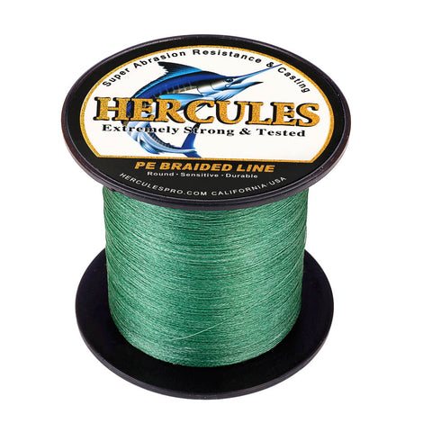 100M 109Yds Green 6lb-100lb Hercules PE Braided Fishing Line 4 Strands