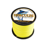 100M 109Yds Fluorescent Yellow 6lb-100lb Hercules PE Braided Fishing Line 4 Strands