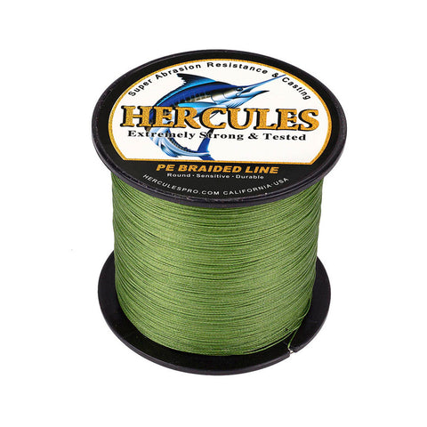 300M 328Yds Army Green 10lb-300lb Hercules PE Braided Fishing Line 8 Strands