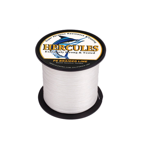 300M 328Yds White 10lb-300lb Hercules PE braid Fishing Line 8 Strands