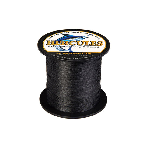 300M 328Yds Black 6lb-100lb Hercules PE Braid Fishing Line 4 Strands