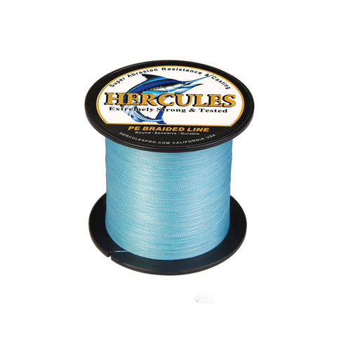 300M 328Yds Blue 6lb-100lb Hercules PE Braided Fishing Line 4 Strands